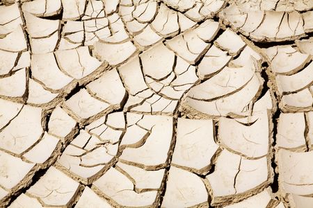 Close up of cracked ground in the desert Stock Photo - 509971