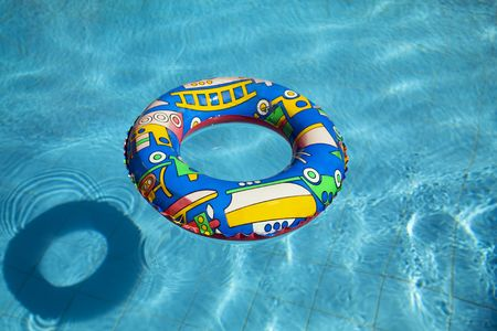 swimming belt: life buoy in a swimming pool
