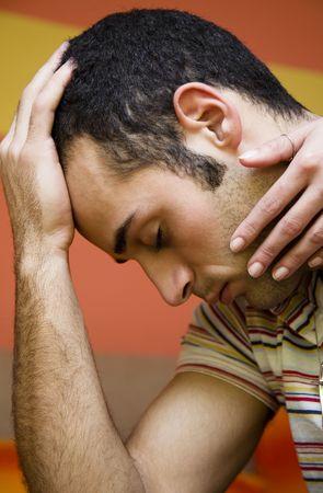 preoccupation: the guy got a headache and feels sick