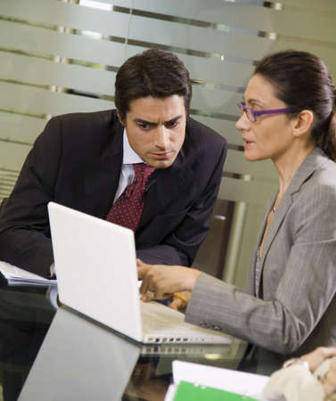 successfulness: People at work: business team having a meeting