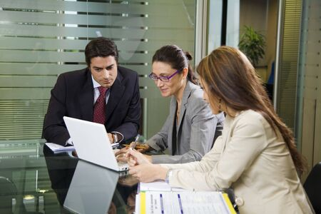 People at work: business team having a meeting Stock Photo - 980335