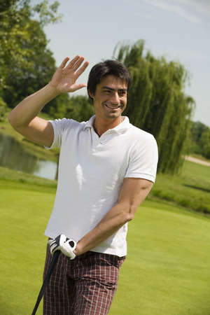 passtime: Golf club: the golfer just won the competition