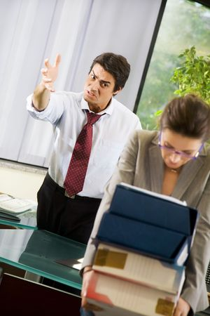 discord: Office life: business team having a fight