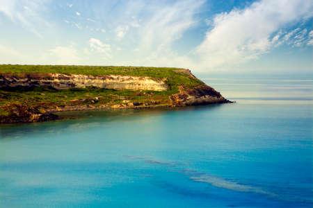 seacoast: travel destination: view of a seacoast  Stock Photo