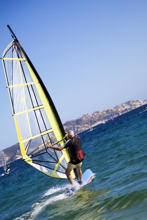 liveliness: summer sports: windsurfers speeding fast