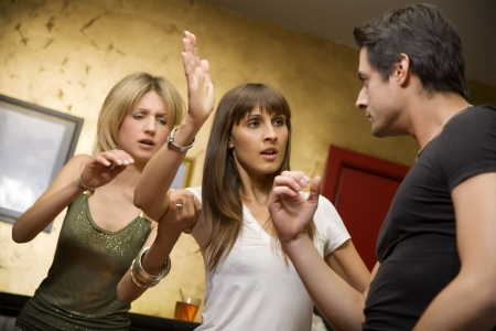 girls night out: girls night out: horny guy fighting with his girlfriend