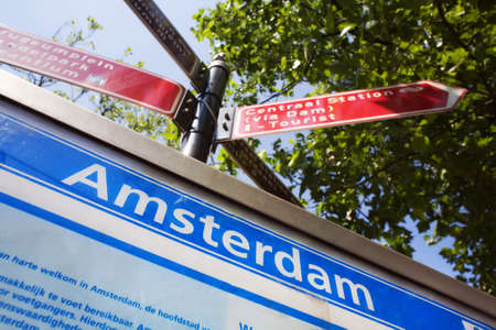 lost your way in amsterdam? Stock Photo - 2118993