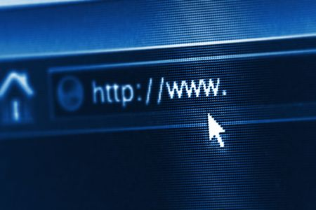 business and technology: internet url with some copy space Stock Photo - 2516954