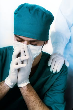mortality: healthcare and medicine: surgeon after he failed an operation