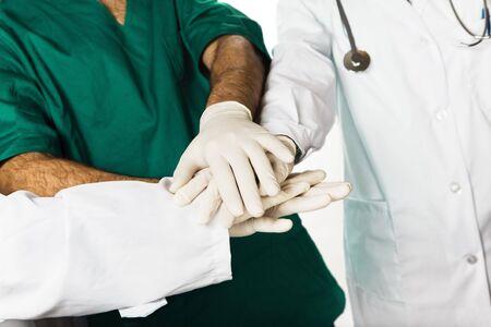 healthcare and medicine: doctors shaking hands