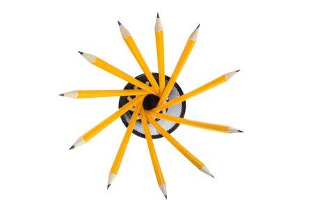 group of sharp pencils isolated on white background Stock Photo - 2891634