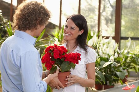 mid adult couple shopping in garden center Stock Photo - 5124530
