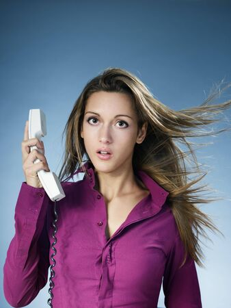 business woman being yelled over the phone. Copy space Stock Photo - 6309677