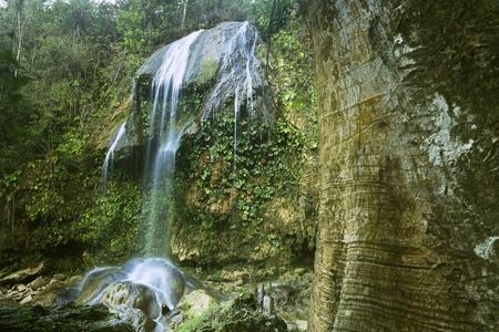 soroa: Views of the Soroa waterfall, Pinar del Rio, Cuba. Sequence