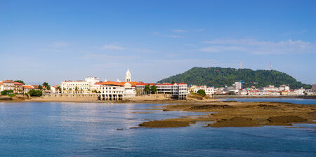 panama city: Tourist attractions and destination scenics. View of Casco Antiguo in Panama City Stock Photo