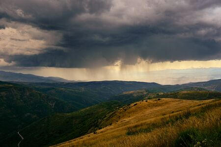 Summer Storm and Rain On Mountains In Spain Zdjęcie Seryjne