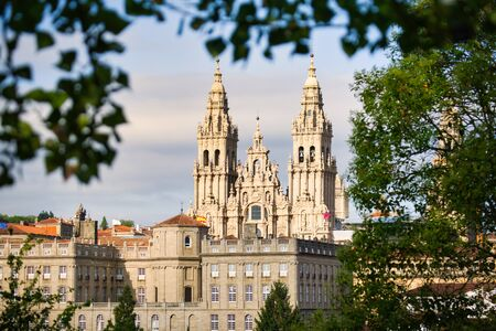 View Of The Cathedral Of Santiago De Compostela In Spain