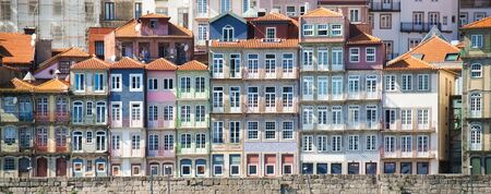 Panoramic View Of Porto Oporto Typical Old Houses Фото со стока - 140953389
