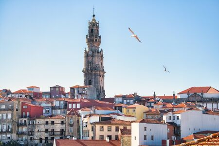 View Of Clerigos Tower And Roofs In Porto Portugal