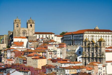 View Of Cathedral And Roofs In Porto Portugal Фото со стока - 139331700
