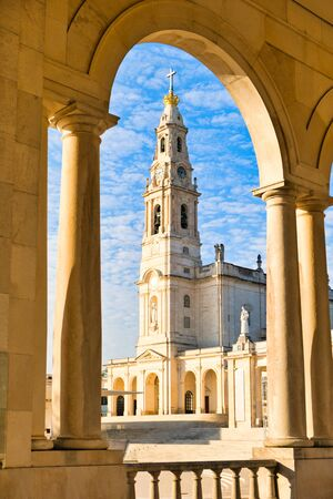 The Fatima Sanctuary, also referred to as Basilica of Our Lady of the Rosary. Fatima is one of the most important pilgrimage destinations for Catholics. Фото со стока