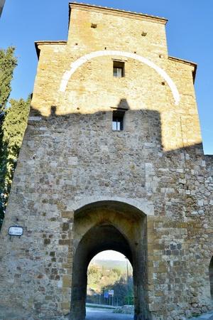 san quirico: san quirico d orcia mura fortificate Stock Photo