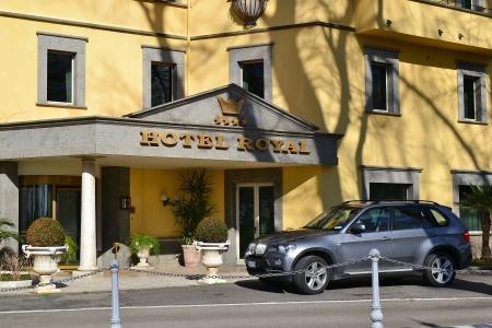 tuscia: Bolsena-Italia 13 febbraio 2013 gli  hotel del lungolago di bolsena, luogo turistico dell ata tuscia laziale