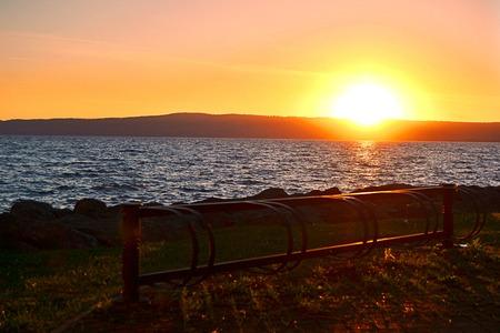 sunset on Lake Bolsena photo