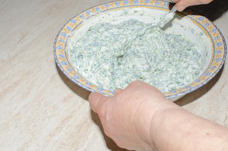 impasto di ricotta e spinaci per ripieno cannelloni