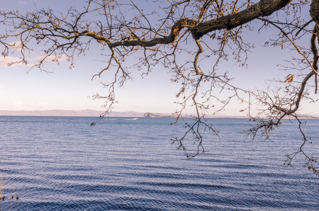characteristic panorama of Lake Blsena one of the most beautiful tourist places in Italy