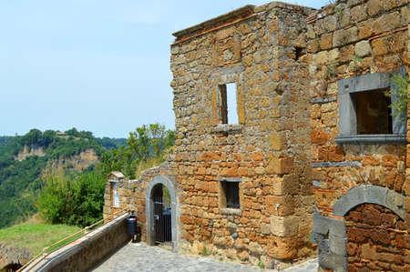 medioeval: civita di banioregio ruins italy