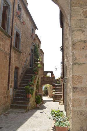 medioeval: civita di banioregio alley italy Stock Photo