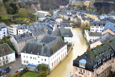 medioeval: Lower City of Luxembourg Stock Photo