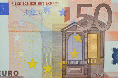 fifty euro banknote: fifty euro banknote
