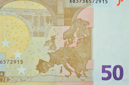 fifty euro banknote: europe on fifty euro banknote