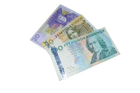 sek  Swedish crowns banknotes photo
