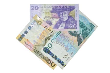 Sek  Swedish crowns banknotes composition photo