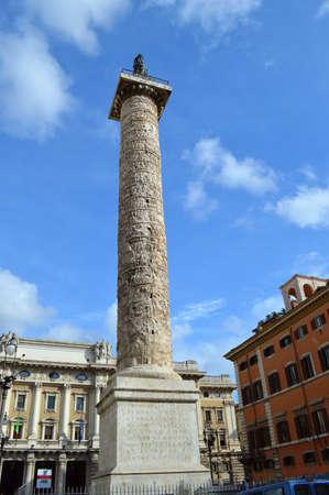 Trajan statue Stock Photo