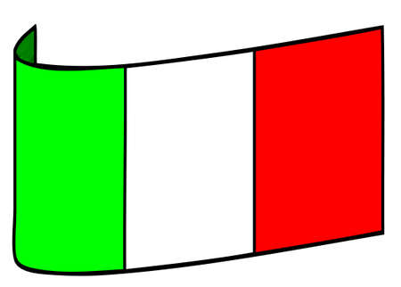 in curved: intalian flag curved