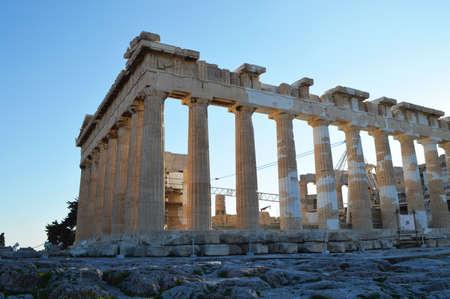 Parthenon at the Acropolis of athens side view Stock fotó