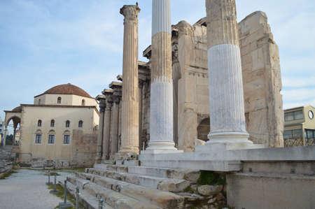 hadrian: Biblioteca de Adriano 's en Atenas Foto de archivo