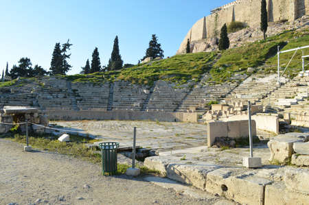 athenians: The theater from Delphi, Greece acropolis in athens Stock Photo