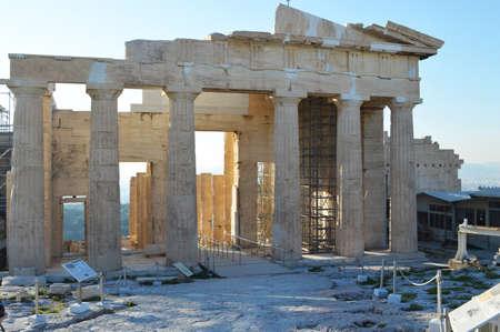doric: Parthenon at the Acropolis of athen back view