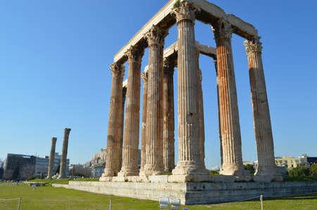 olympian: Temple of the Olympian Zeus at Athens Stock Photo