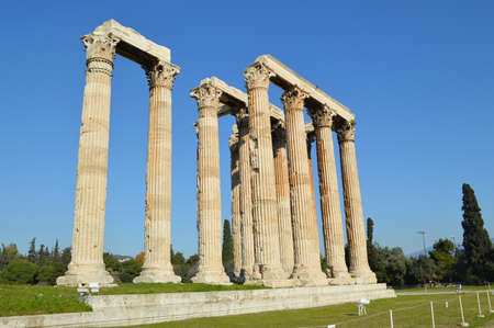 olympian: Ruins of Temple of the Olympian Zeus at Athens