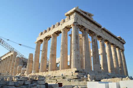 doric: Parthenon at the acropolis of athens