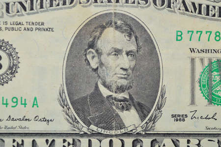 hoard: five united state dollars banknote