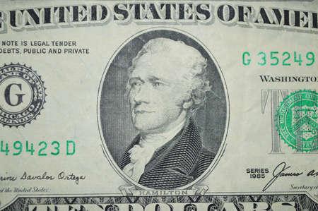 alexander hamilton: dieci dollari stato unito banconota Archivio Fotografico