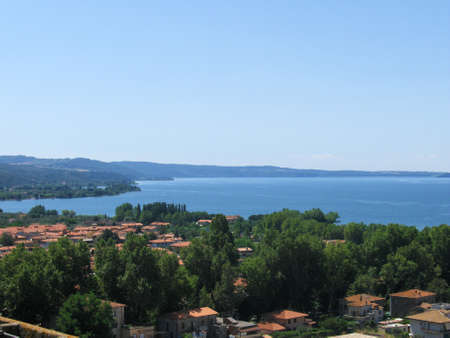 lazio: Bolsena lake lazio italy