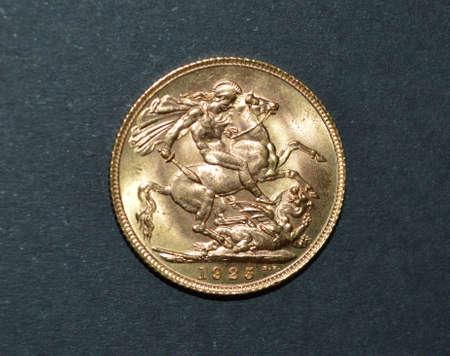 sterling: britannico oro argento sterling nel 1925 Archivio Fotografico